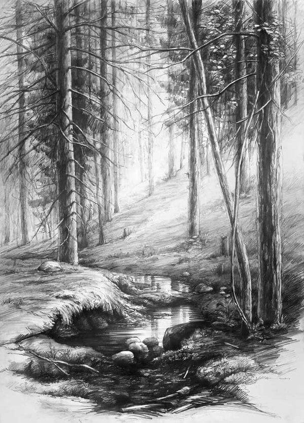 Easy Landscape Drawing Ideas For Beginners