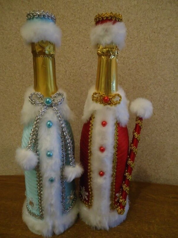 Beautiful Wine Bottle Crafts For Christmas