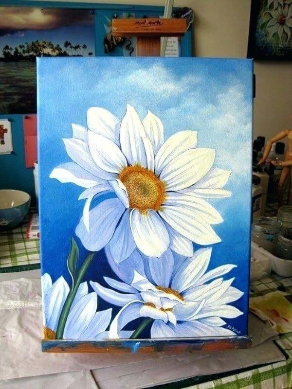 Easy Flower Painting Ideas For Beginners
