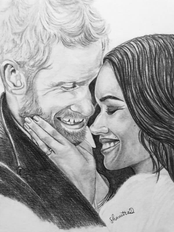 42 Simple Pencil Sketches Of Couples In Love - Artistic Haven
