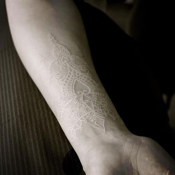 Beautiful White Ink Tattoo Designs And Ideas