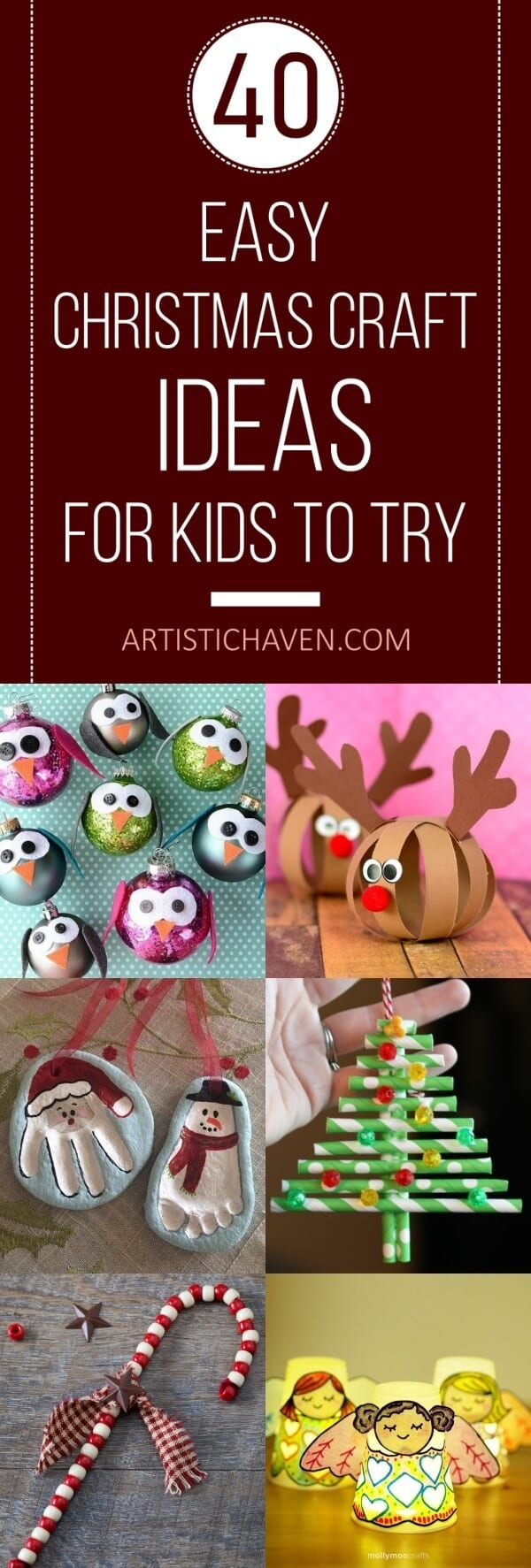 40 Easy Christmas Craft Ideas For Kids To Try Artistic Haven