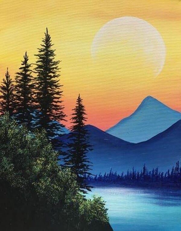 Easy Landscape Paintings For Beginners