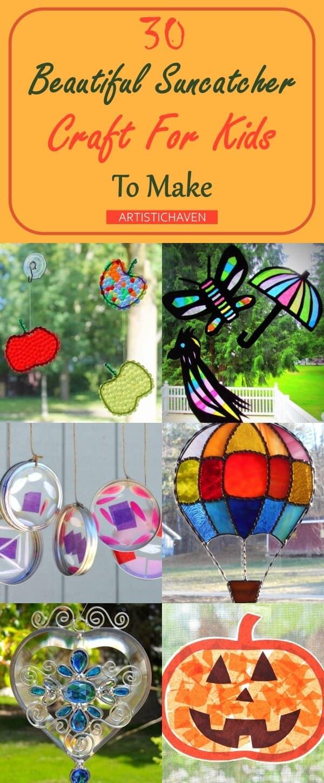 Beautiful Suncatcher Craft For Kids To Make