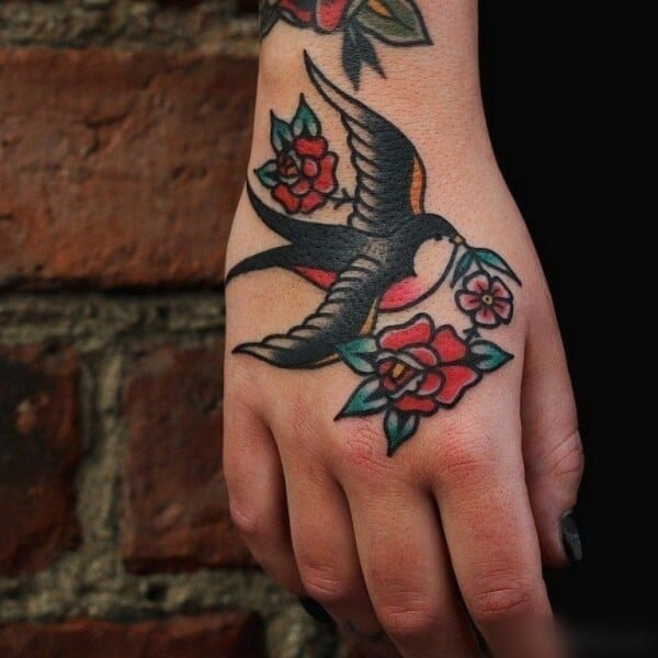 Cute Sparrow Tattoo Designs With Meaning