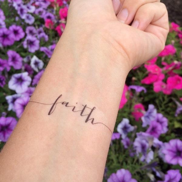 Beautiful Faith Tattoo Designs For You