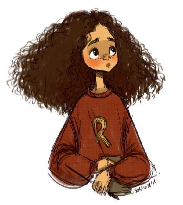 cartoon characters with curly hair